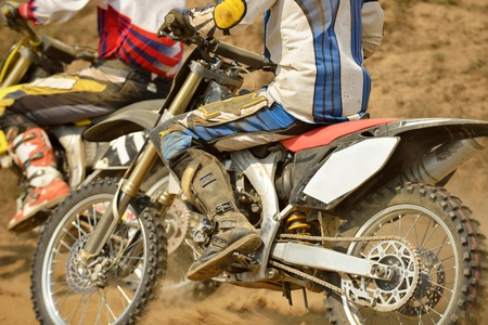 enduro: motocross bike in a race representing concept of speed and power in extreme man sport
