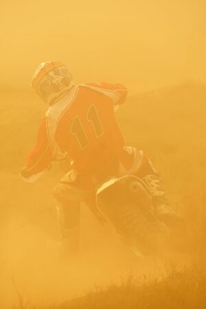motocross bike in a race representing concept of speed and power in extreme man sport Stock Photo - 16238884
