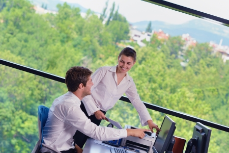Group of happy young  business people in a meeting at office Stock Photo - 16523014