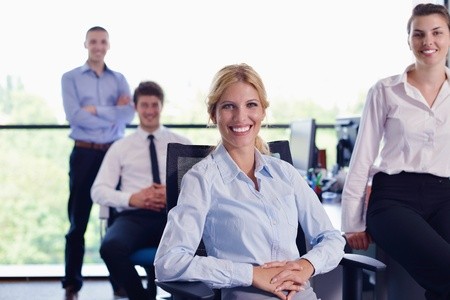 business people  team  group  on a meeting have success and make deal Stock Photo