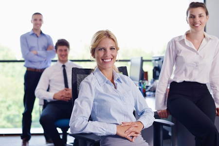 family business: business people  team  group  on a meeting have success and make deal Stock Photo