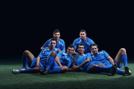 soccer players team group isolated on black background Stock Photo - 17394555