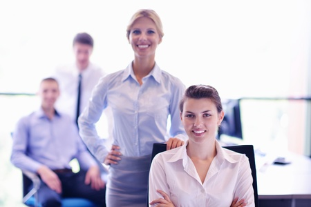 business people  team  group  on a meeting have success and make deal Stock Photo - 16580347