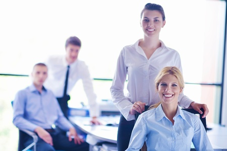 business people  team  group  on a meeting have success and make deal Stock Photo - 16580537