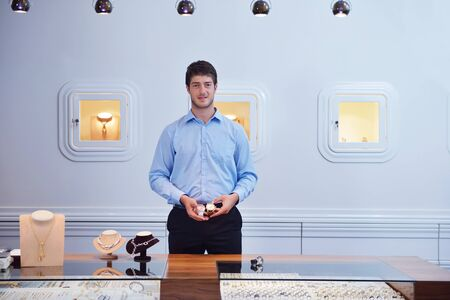 business man selling in jewelry store Stock Photo - 16754027