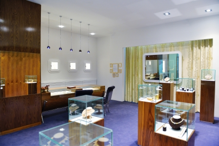 jewelry store shop indoors - small business Stock Photo