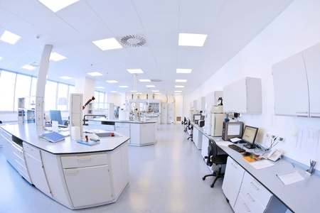 medical and health bright lab laboratory indoor with instruments test tubes photo