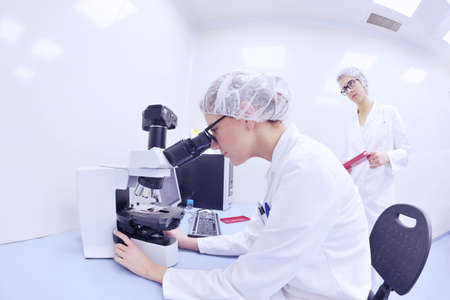 group of scientists working at the laboratory photo