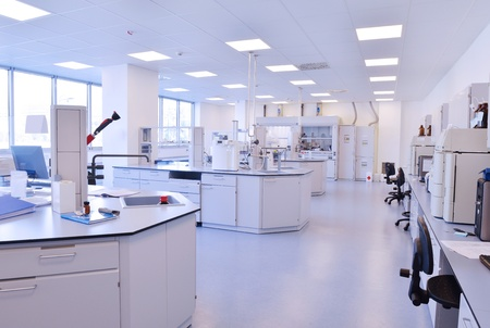 medical and health bright lab laboratory indoor with instruments test tubes Stock Photo - 17349026