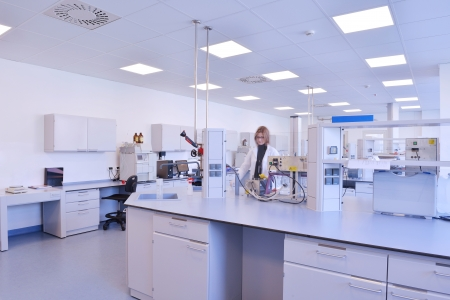group of scientists working at the laboratory Stock Photo - 17349025