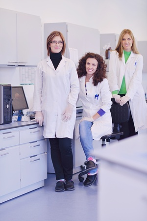group of scientists working at the laboratory Stock Photo - 16885456