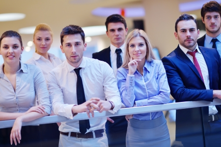 family business: portrait of business people  team  group at modern bright office Stock Photo