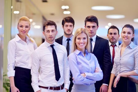 portrait of business people  team  group at modern bright office photo