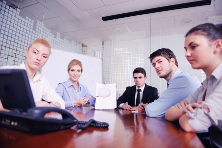 business people group have video meeting conference  at office Stock Photo - 18320017