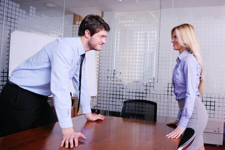 Angry business man screaming at employee in the office Stock Photo - 18320064