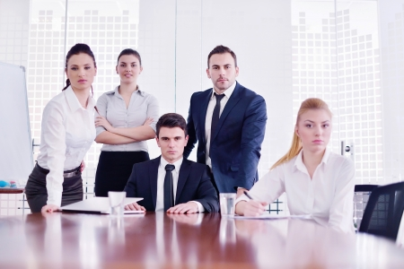 Group of happy young  business people in a meeting at office Stock Photo - 18320023