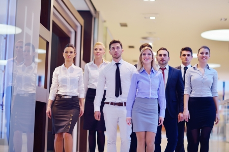hotel worker: portrait of business people  team  group at modern bright office Stock Photo