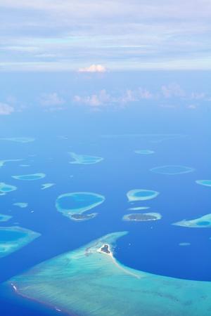 maldives island: tropical beach with white sand at summer
