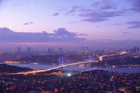 bosphorus: Istanbul Turkey Bosporus Bridge on sunset