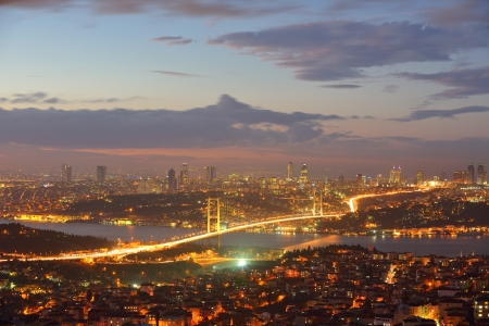 bosporus: Istanbul Turkey Bosporus Bridge on sunset