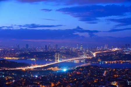 bosporus: Istanbul Turkey Bosporus Bridge on sunset