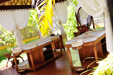 spa beauty and massage center indoors outdoor Stock Photo - 20591006