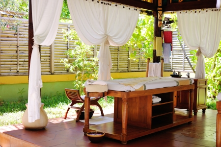 spa beauty en massage centrum binnenshuis outdoor Stockfoto