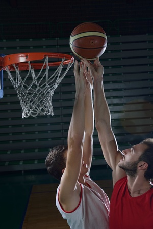 basketball game sport player in action isolated on black\ background