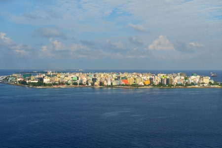 maldives island: The Capital of Maldives, Male. Aerial view of the city