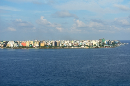 habour: The Capital of Maldives, Male. Aerial view of the city