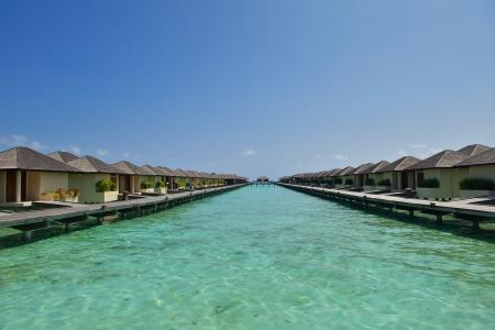 vacation home: tropical water home villas resort  on Maldives island at summer vacation