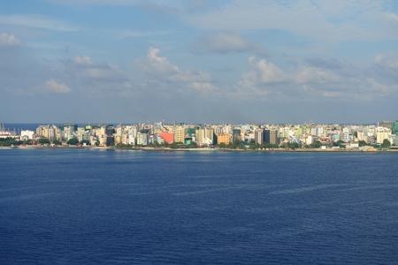 Islan Male city skyline Malideves capital arial photo