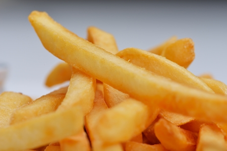 French fries with ketchup  photo