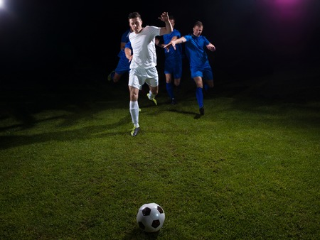 duel: soccer football team  player game duel isolated on black background