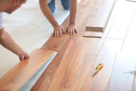laminate flooring: Installing laminate flooring in new home indoor