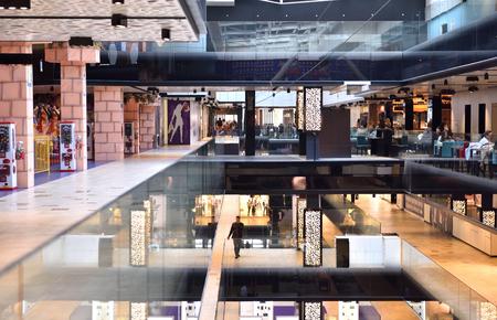 modern bright shopping mall indoor architecture Redakční