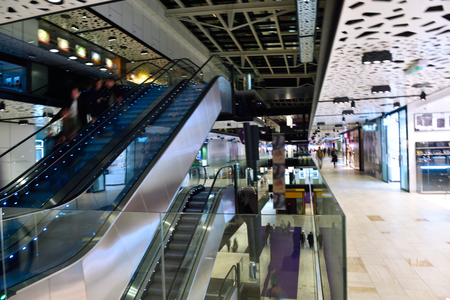 modern bright shopping mall indoor architecture Editorial