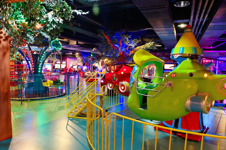 modern shopping mall playground for kids and video games