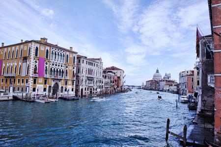 italian sea: venice, beautiful romantic italian city on sea with great canal and gondolas