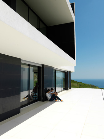 External view of a contemporary house modern villa