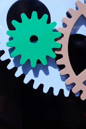 steam engines: machine gears engine design technology industry concept background Stock Photo