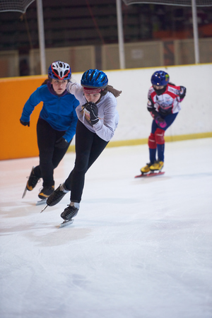 children speed skating sport