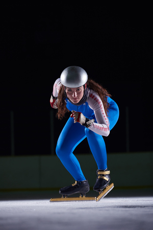 speed skating: speed skating sport with young athletes