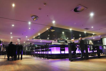 nightclub bar: modern design club restaurant bar indoors