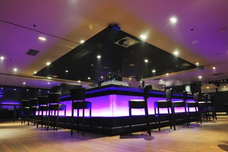 modern design club restaurant bar binnen Stockfoto
