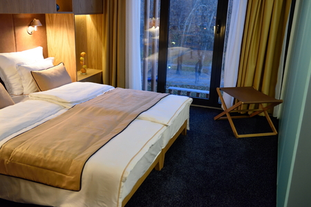 hotel room: Interior of modern comfortable hotel room