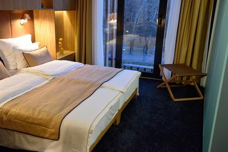 hotel resort: Interior of modern comfortable hotel room