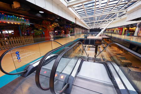 mall: modern bright shopping mall indoor architecture Stock Photo