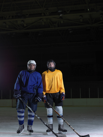 concpet: ice hockey sport players comptetition concpet Stock Photo