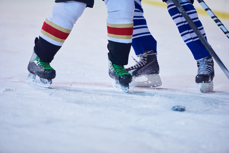 comp: ice hockey sport players comptetition concpet Stock Photo